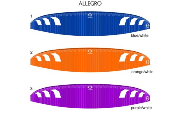 Les couleurs disponibles pour l'Allegro