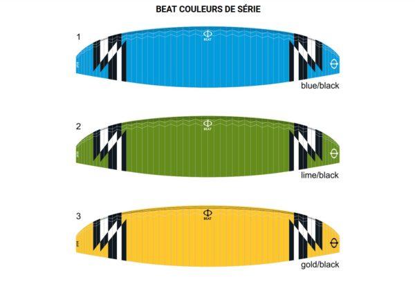 Les couleurs disponible pour la Beat
