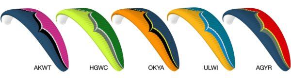 Les couleurs disponibles sur la Delta 4