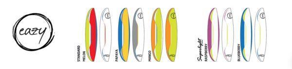 Les couleurs disponibles pour l' Eazy 2 standard et superlight