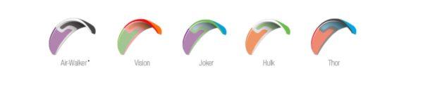 Les couleurs disponibles pour la SkyParagliders Gaia 2