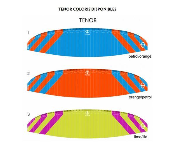 Les couleurs disponibles sur la Tenor