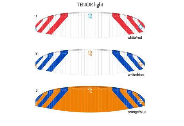 Les couleurs disponibles sur la Tenor Light de Phi