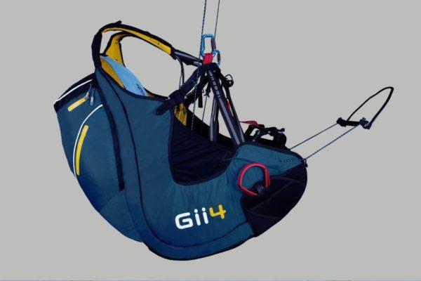 La sellette Sky Paragliders Gii 4 de couleur Bleue