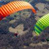 Deux Triple Seven Dceck-Evo en vol vue du dessus.