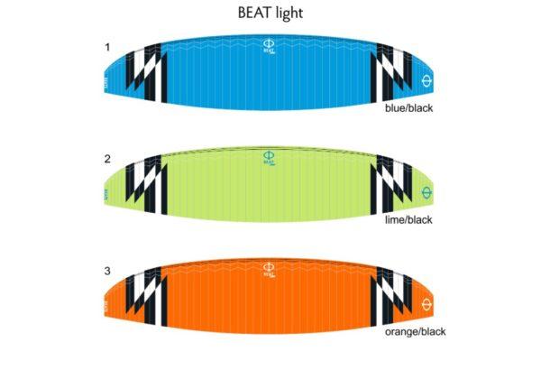 Les couleurs disponibles pour la Beat light