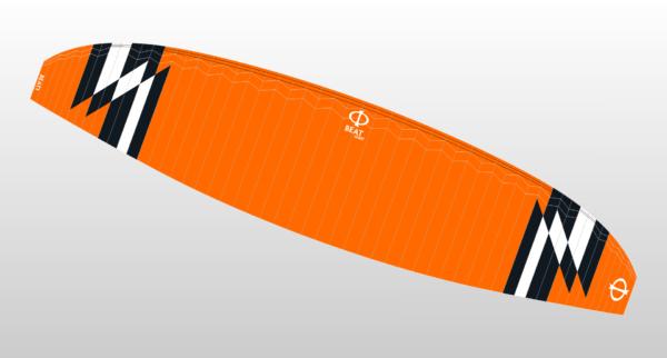 Le croquis de la Phi Beat Light de couleur orange