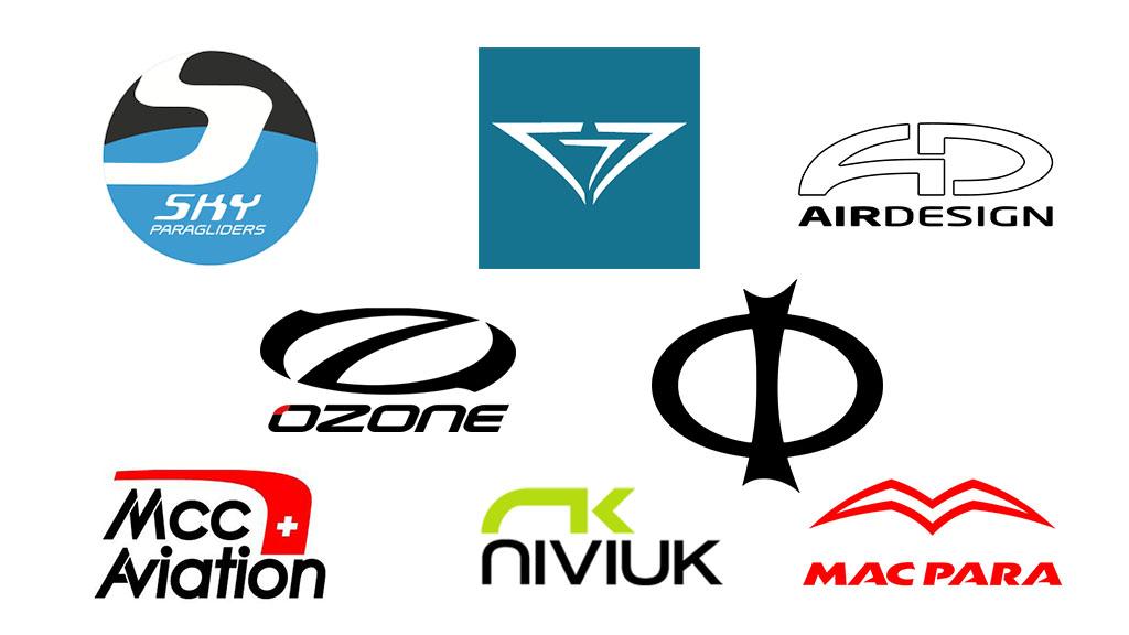 Les logos des marques de parapente